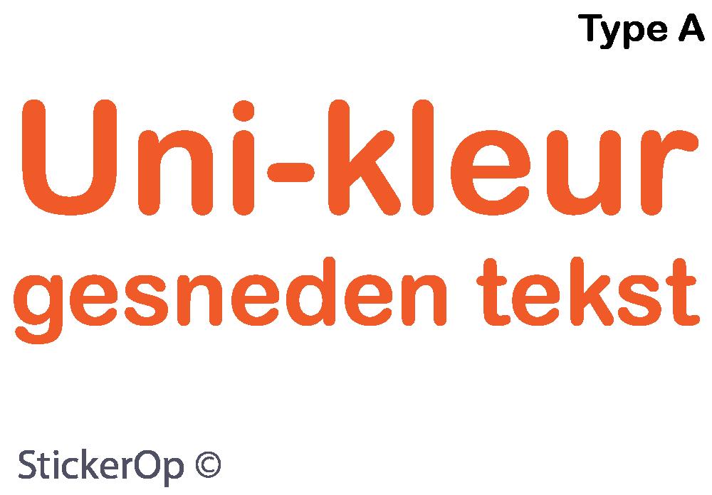 Muurtekst Sticker Ontwerpen : StickerOp Muursticker van eigen tekst ...
